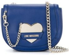 Love Moschino - chain-detail crossbody bag - women - Polyurethane - OS - BLUE