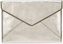 Rebecca Minkoff - borsa clutch busta - women - Leather - OS - METALLIC