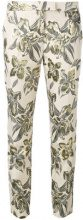 Christian Pellizzari - printed cigarette trousers - women - Cotton/Polyester/Acetate/Viscose - 42 - NUDE & NEUTRALS