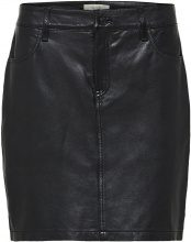 SELECTED Slim Fit - Leather Skirt Women Black