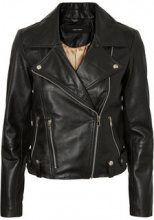 VERO MODA Short Leather Jacket Women Black