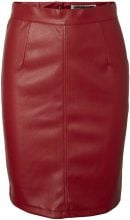 NOISY MAY Imitation Leather Skirt Women Red