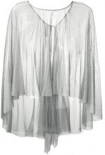 Maria Lucia Hohan - floaty silk cape - women - Silk - OS - METALLIC