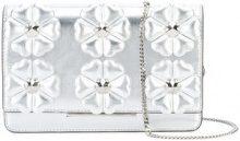 Fendi - Clutch con applicazioni a fiori - women - Leather - OS - METALLIC