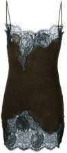 Moschino Vintage - embroidered vest - women - Polyamide/Angora/Wool - 42 - Marrone
