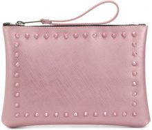 Gum - stud detailed clutch bag - women - Polyurethane - One Size - PINK & PURPLE