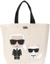 Karl Lagerfeld - Karl Ikonik shopper - women - Canvas - One Size - NUDE & NEUTRALS