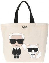 Karl Lagerfeld - Karl Ikonik shopper - women - Canvas - OS - NUDE & NEUTRALS