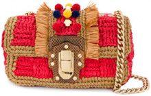 Dolce & Gabbana - Lucia shoulder bag - women - Viscose/Lamb Skin/Calf Leather/Raffia - OS - RED