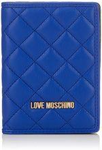 Love Moschino Portafogli Nappa Pu Blu - Pochette da giorno Donna, (Blue), 1x14x10 cm (B x H T)