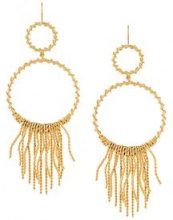 Aurelie Bidermann - 'Marissa' chandelier hoop earrings - women - Brass - OS - METALLIC