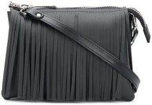 Gum - fringed shoulder bag - women - Polyurethane - OS - BLACK