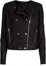 Y.A.S Biker Leather Jacket Women Black