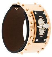 Givenchy - Shark Tooth studded bracelet - women - Calf Leather/metal - S - BLACK