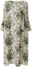 Ermanno Gallamini - printed kaftan dress - women - Linen/Flax - OS - NUDE & NEUTRALS