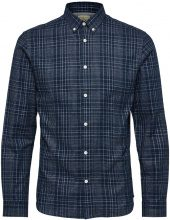 SELECTED Checked - Long Sleeved Shirt Men Blue