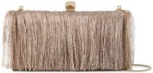 Jimmy Choo - Celeste fringe clutch - women - Calf Leather/Polyester - OS - NUDE & NEUTRALS