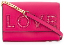 Michael Michael Kors - Borsa a tracolla 'Love' - women - Leather - One Size - PINK & PURPLE