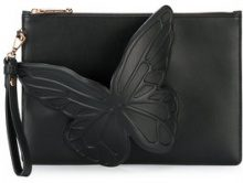Sophia Webster - Borsa clutch 'Flossy Butter' - women - Leather/Brass - One Size - BLACK