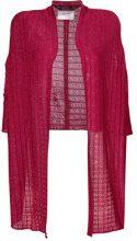 John Galliano Vintage - Cardigan lungo - women - Cupro/Viscose/Metallic Fibre - OS - PINK & PURPLE