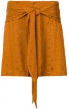 Lilly Sarti - tie detail skirt - women - Polyester/Spandex/Elastane - 42 - YELLOW & ORANGE