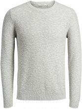 JACK & JONES Classic Knitted Pullover Men Grey