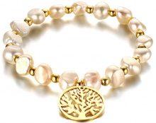 Bracciale con perle d'acqua dolce e albero della vita