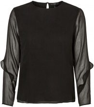 VERO MODA Frill Sleeved Blouse Women Black
