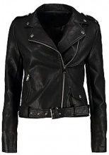 Jessica giacca in poliuretano in stile motociclista con cintura