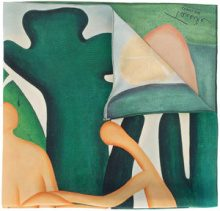 Osklen - Osklen x Tarsila Antropofagia scarf - women - Silk - OS - GREEN