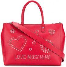Love Moschino - Borsa tote con borchie - women - Polyurethane - OS - RED