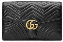Gucci - Borsa clutch 'GG Marmont' - women - Calf Leather - One Size - Nero