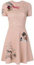 Valentino - Miniabito con ricami - women - Silk/Cotton/Polyester/Viscose - S - NUDE & NEUTRALS