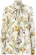 Alexander McQueen - Blusa con fiocco 'Wild Iris' - women - Silk - 42 - NUDE & NEUTRALS