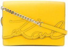 - Karl Lagerfeld - Borsa a tracolla 'K/Signature Essential' - women - Leather - Taglia Unica - Giallo & arancio