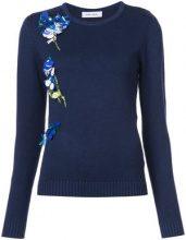 Prabal Gurung - sequin embroidered jumper - women - Silk/Cashmere/Wool - S - BLUE