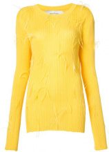 Marques'almeida - Maglioncino a coste - women - Polyamide/Viscose - S - YELLOW & ORANGE