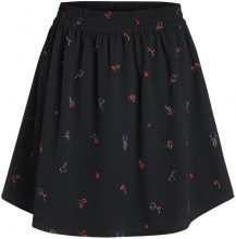 PIECES Patterned Skirt Women Black
