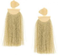 Lizzie Fortunato Jewels - Crater Tassel earrings - women - Gold Plated Brass - OS - YELLOW & ORANGE