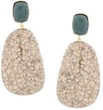 Isabel Marant Étoile - Orecchini con pietra - women - Brass/ceramic - OS - NUDE & NEUTRALS