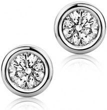 Diamada Donna 9 carati Oro bianco Rotonda H Diamante