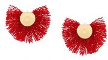 Katerina Makriyianni - Orecchini - women - Wool/Bronze - One Size - RED