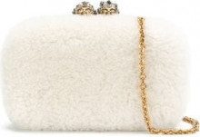 Alexander McQueen - Clutch - women - Wool - OS - WHITE