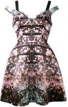 Natasha Zinko - floral printed dress - women - Polyamide/Polyester - 40 - BROWN