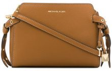Michael Michael Kors - Borsa Messenger 'Bristol' - women - Cotton/Leather - One Size - BROWN