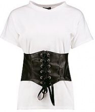 Harriet T-shirt oversize con corsetto in poliuretano