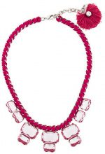 Radà - Collana spessa con diamanti sintetici - women - Silk/Polyester/Brass/glass - OS - PINK & PURPLE