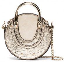 Chloé - Mini borsa 'Gold Pixie Nano' - women - Calf Leather/Lamb Skin/Calf Suede - One Size - METALLIC