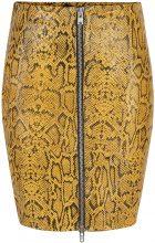 Y.A.S Crocodile Leather Skirt Women Black