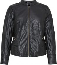 JUNAROSE Leather Jacket Women Black